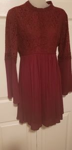 Red lace Altrd State dress